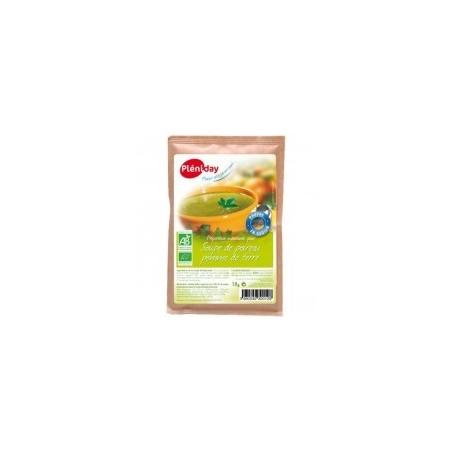 Sopa orgánica de papa y puerro baja en sodio - Pléniday