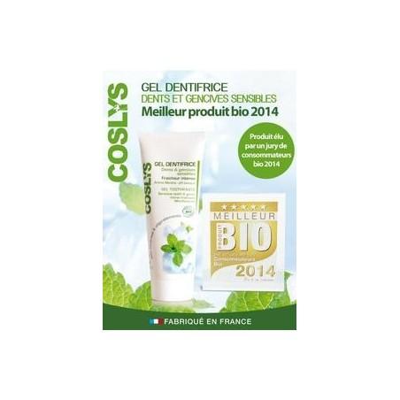 Gel orgánico de pasta de dientes y encías sensibles 75ml de Coslys