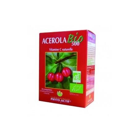 Acérola bio 500 - Vitalité Phyto Actif